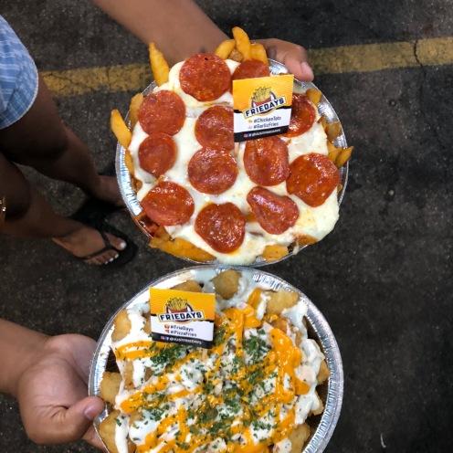 Just Friedays: Cheesy Sriracha Tots+ Pepperoni Fries
