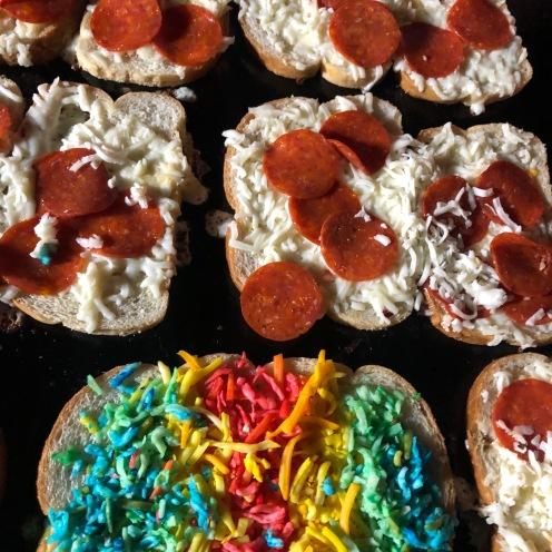 Ice Cream Garden LA: Rainbow + Pepperoni on grill