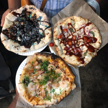 La Pizzeria Co: Shrimp & Bacon+ BBQ Chicken +Cookie Monster