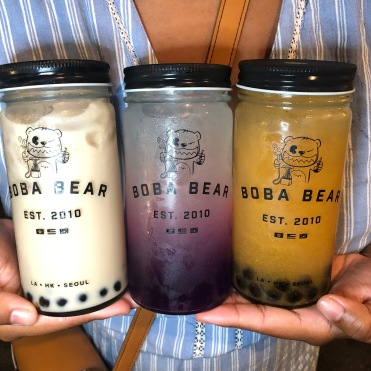 Boba Bear: Milk Tea + Butterfly Lemonade+24k Golden Tea