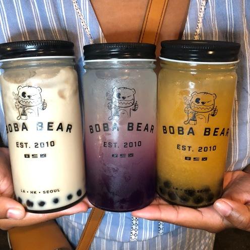 Boba Bear: Milk Tea + Butterfly Lemonade+24k Golden Tea
